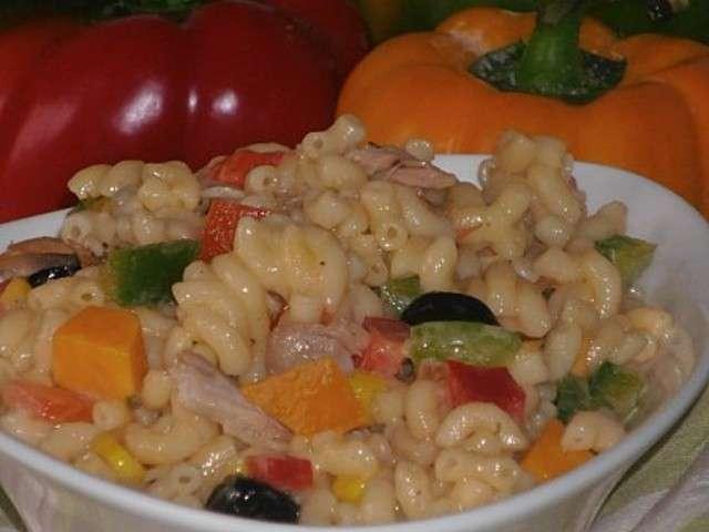 recettes de salade de p 226 tes et poivrons 3