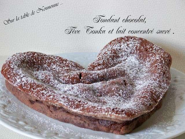Recettes de f ves et chocolat 7 - Fondant au chocolat la table a dessert ...