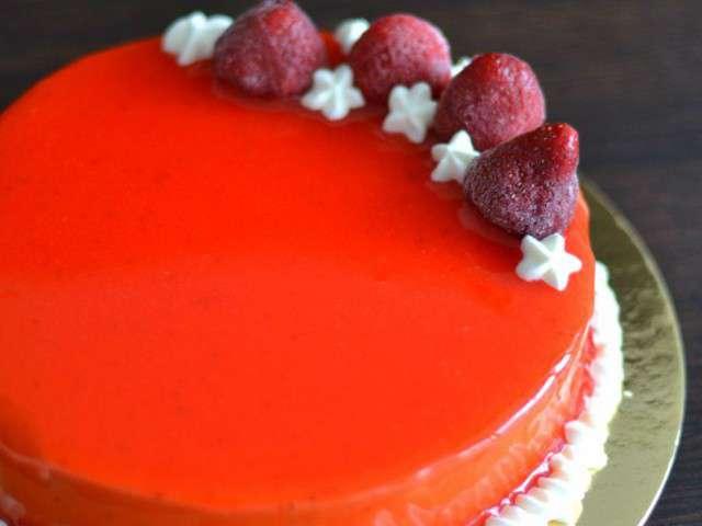 Recettes d 39 entremets et fraises for Miroir aux fraises
