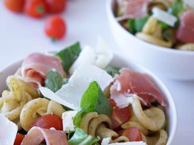 Recettes de salade de p tes et jambon - Salade de pates jambon ...