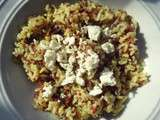 Coconut rice, red quinoa and feta/ Riz coco, quinoa rouge et feta