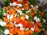 Salade pois chiche et chèvre - Chickpea and goat cheese salad