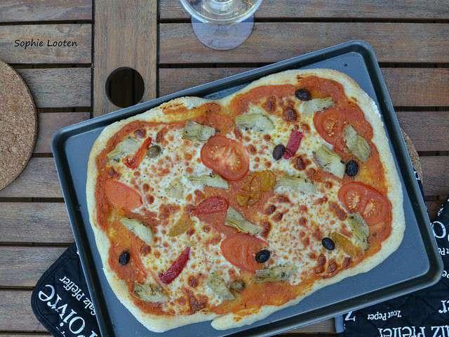 Pita-pizza façon 4 saisons