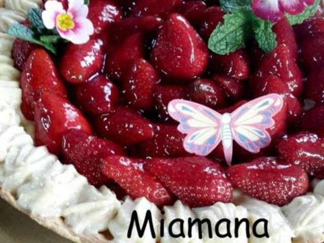 Recettes de tarte aux fraises de une d butante en cuisine - Une mousseline en cuisine ...