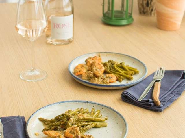 recettes de crevettes et asperges. Black Bedroom Furniture Sets. Home Design Ideas