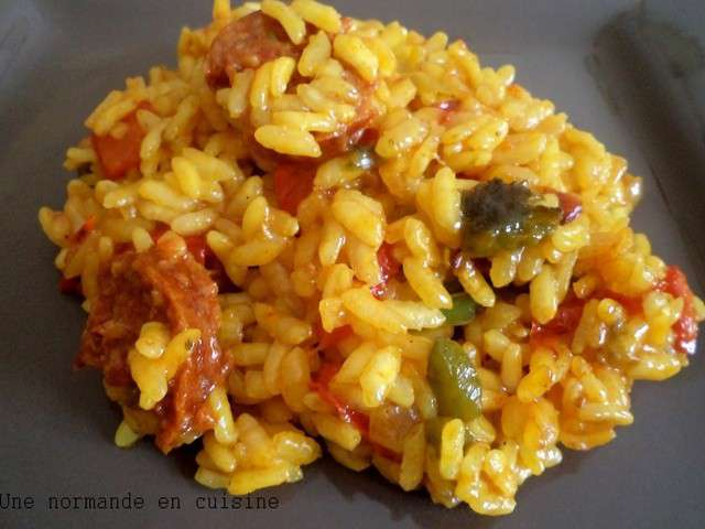 recettes de riz et chorizo 4