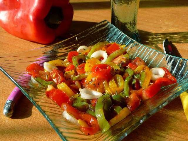 Recettes de salade de poivrons et entr es - Salade de poivrons grilles ...