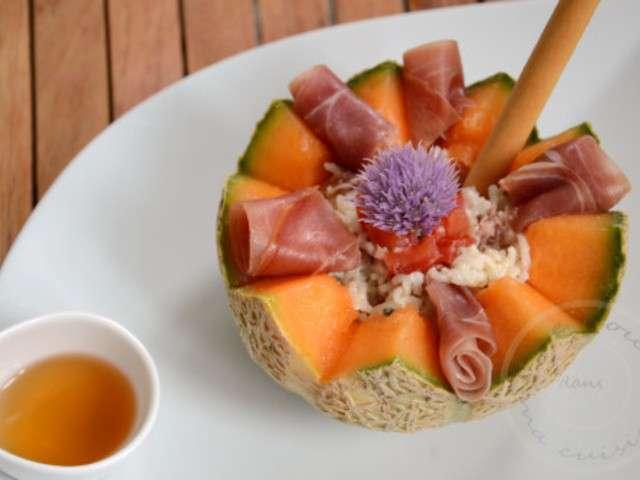 Recettes de melon et jambon 3 - Melon jambon cru presentation ...