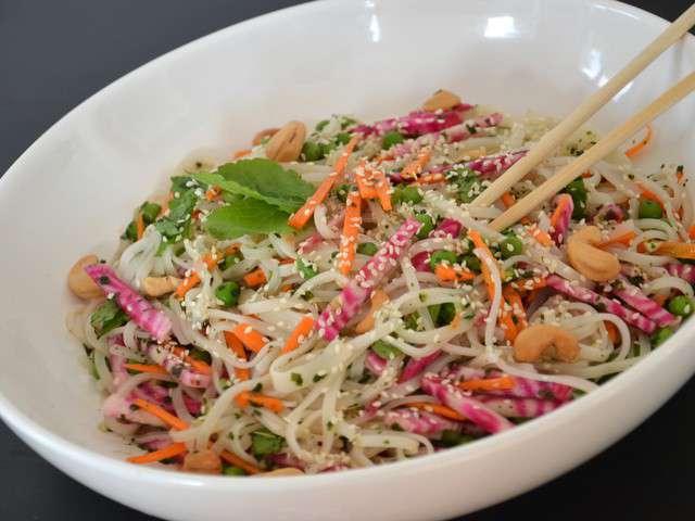 Recettes de salade de nouilles - Ma cuisine vegetarienne ...
