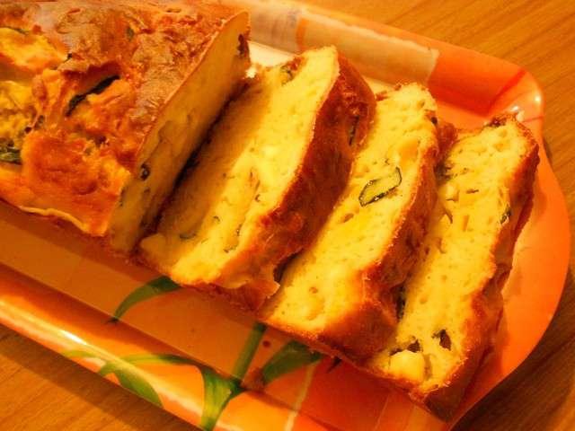 Cake Poivrons Courgette Chevre