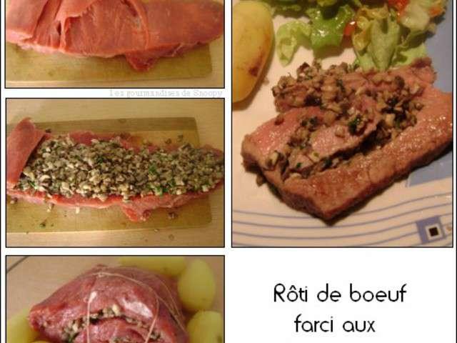 Recettes de r ti de boeuf et champignons - Cuisiner roti de boeuf ...