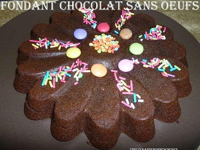 Les meilleures recettes de cuisine sans oeuf et chocolat 3 Fondant au chocolat sans oeufs