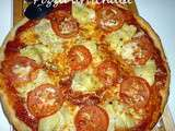 Pizza artichaut/tomates/mozza pour le Culino Version