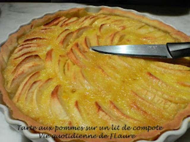 Recettes de tarte aux pommes et compote 3 - Tarte aux pommes compote maison ...
