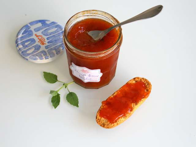 confiture abricot peche basilic
