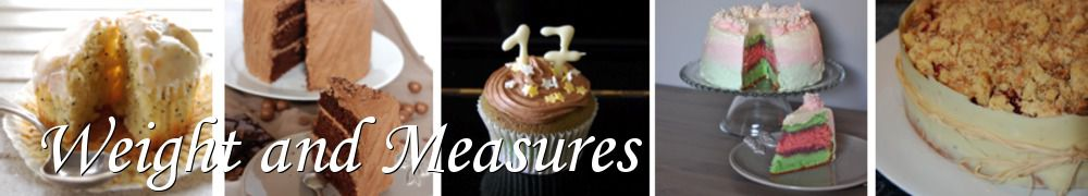 Recettes de Weight and Measures