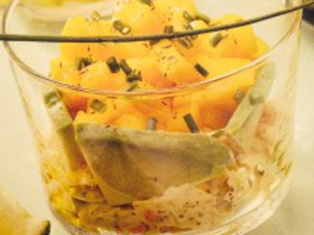 Recettes de verrines et crabe 3 for Entree fraiche et rapide