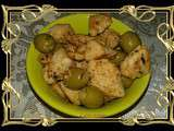 Filet de poulet frit aux olives
