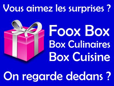 Box cuisine, Food box et Box culinaires