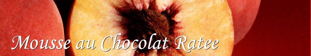 Faire un gateau avec une mousse au chocolat ratee